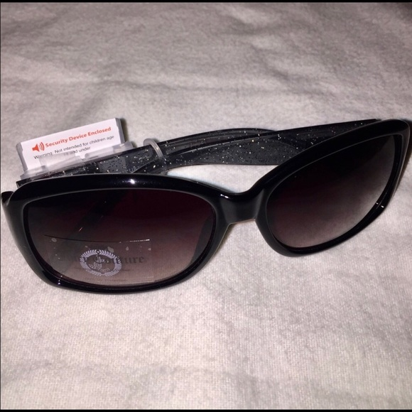Juicy Couture Accessories - Juicy Couture black glitter sunglasses sunnies